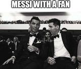 Messi with a fan memes