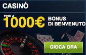casinò william hill bonus di benvenuto